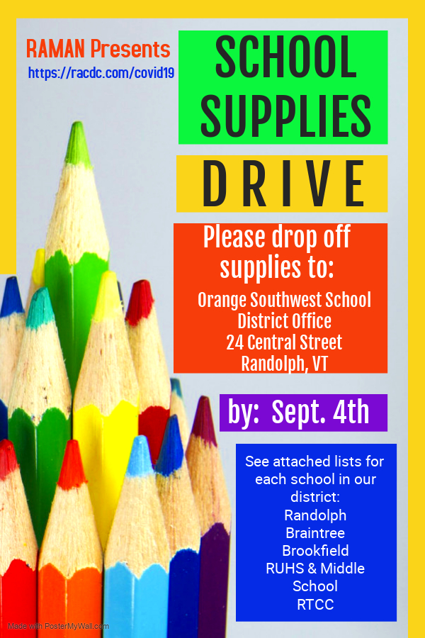 School Supply Drive Poster